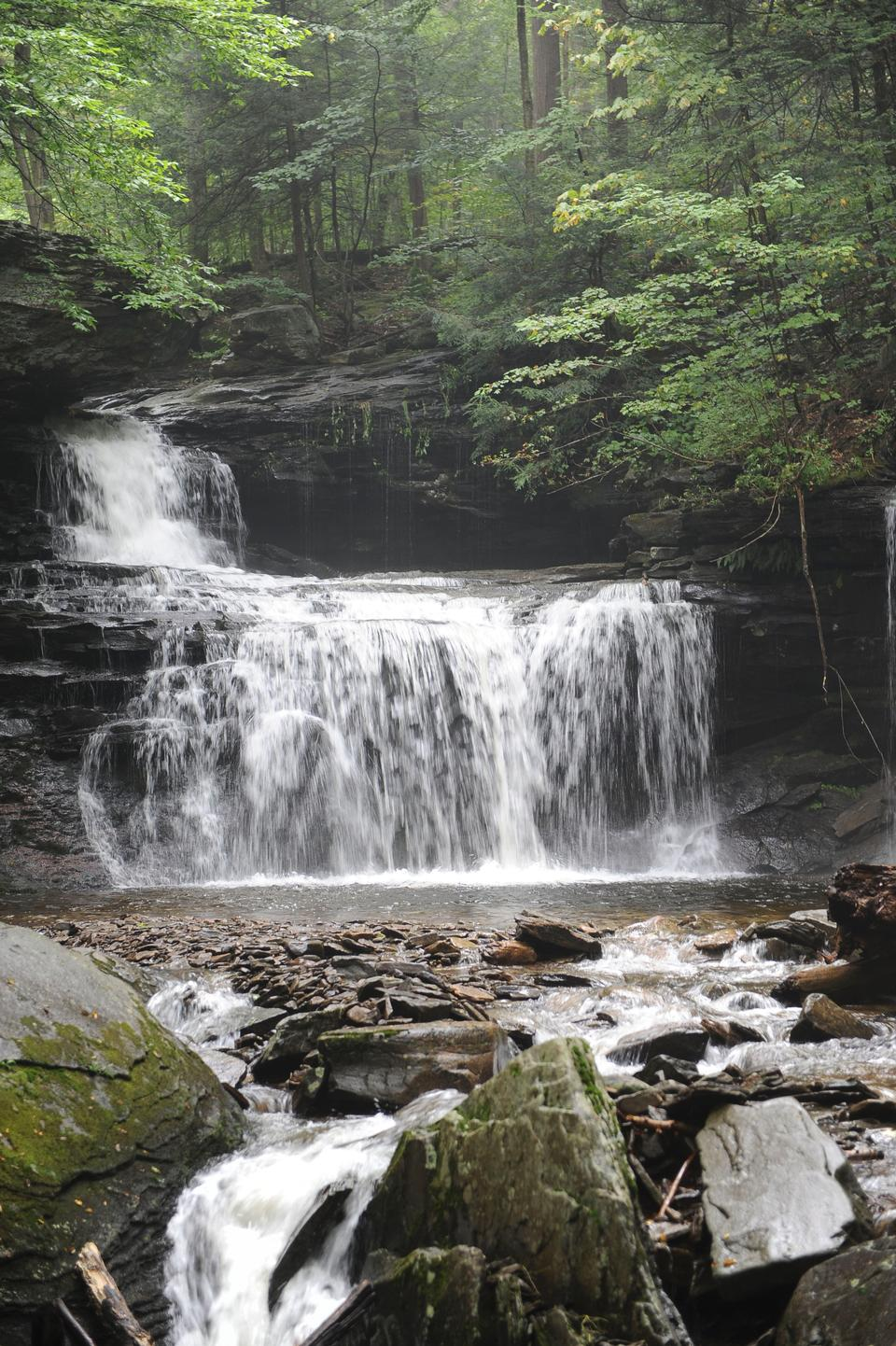 Waterfalls in Ricketts Glen State Park