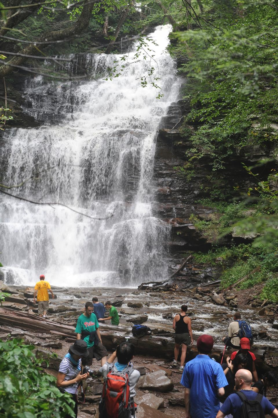 リケッツグレン州立公園の滝