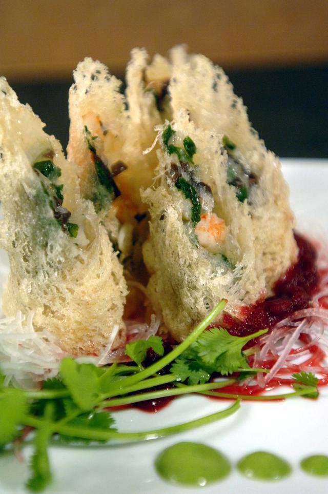 日本料理前菜Harunaki春巻き