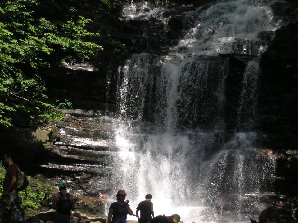 Водопады в Рикетс Глен State Park