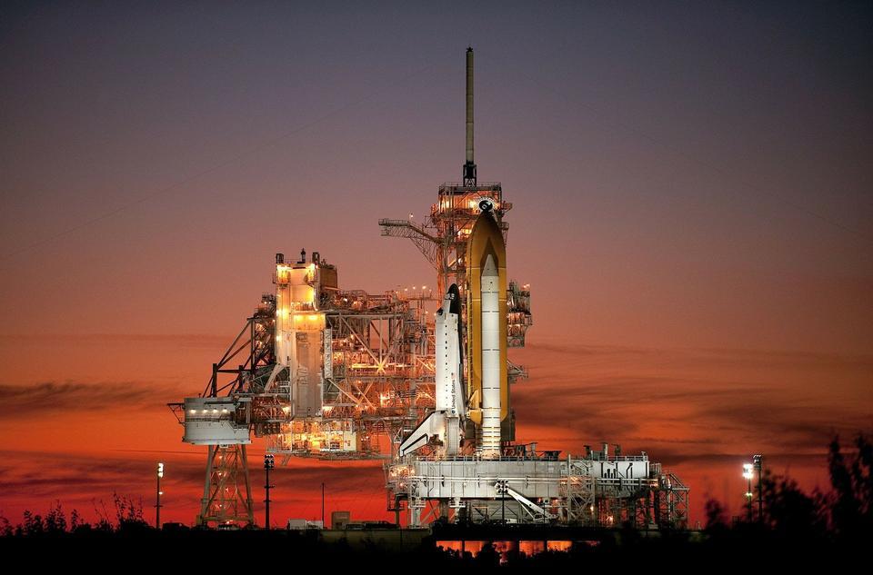 Space Shuttle Atlantis Pad de lancement de fusée