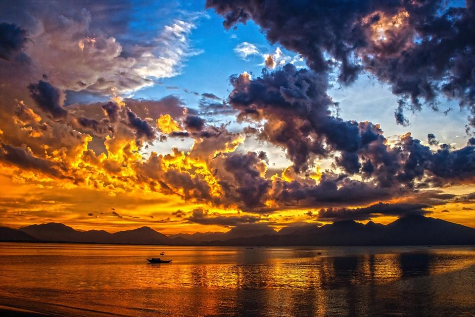 Sunset Himmel Wolke Da Nang Bay