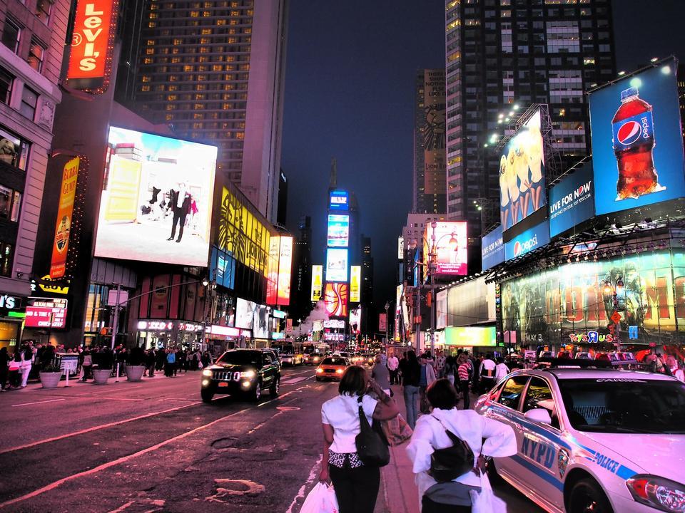 紐約時報廣場夜景