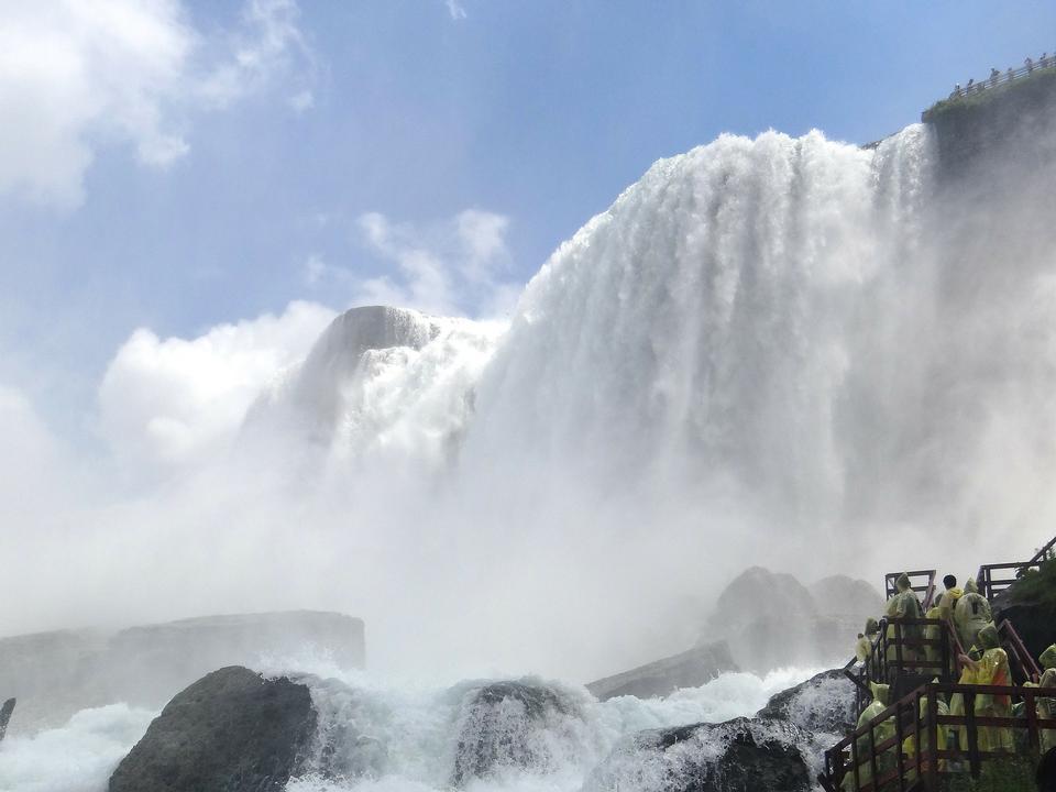 ナイアガラの滝アメリカ側ツアー