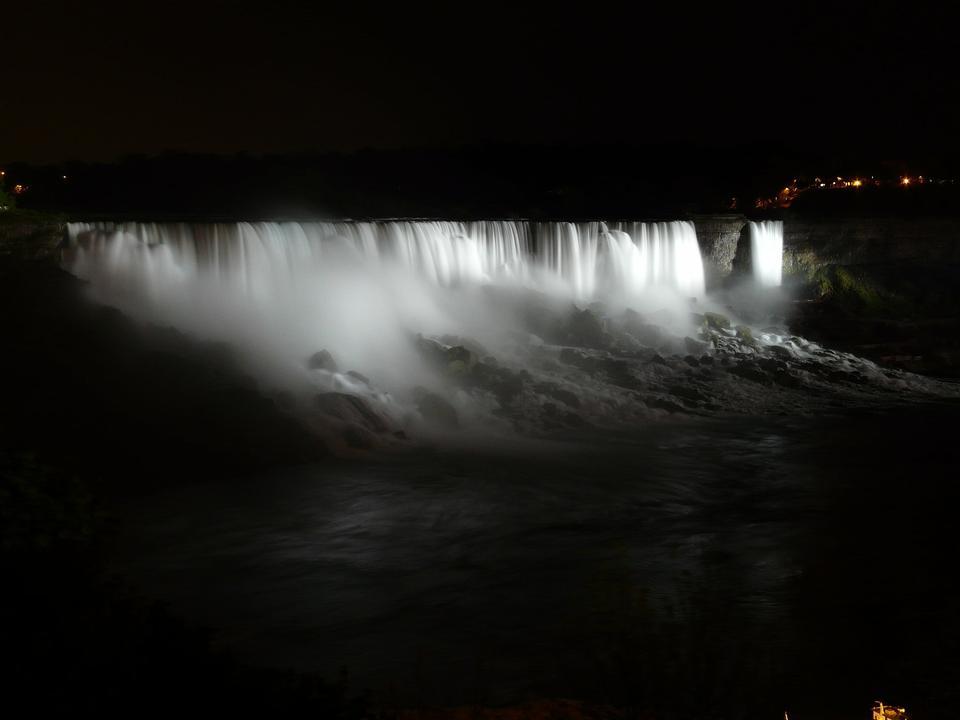 Niagara Falls at Night - Light Illumination