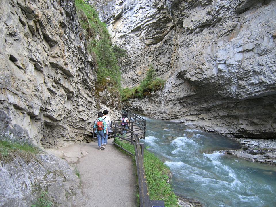 Johnston Canyon Trail Hike Alberta