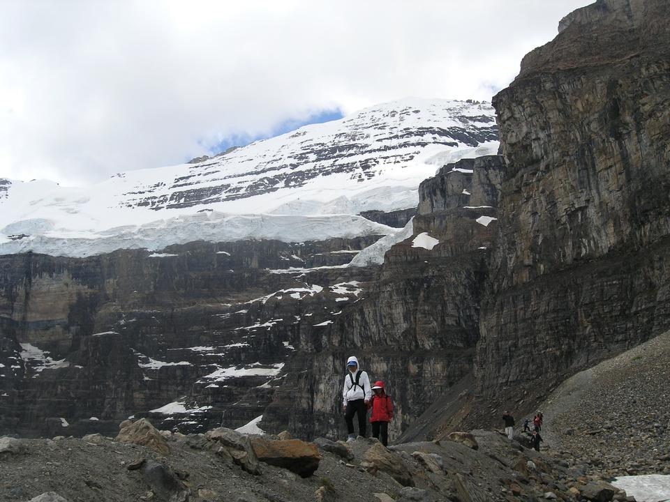 Glaciers trail in Banff National Park Canada - Backpacking