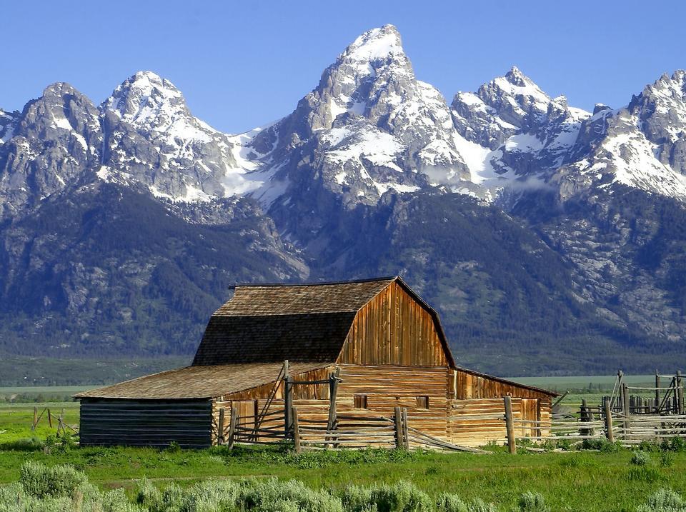 谷仓小屋Mormonisch怀俄明州国家公园