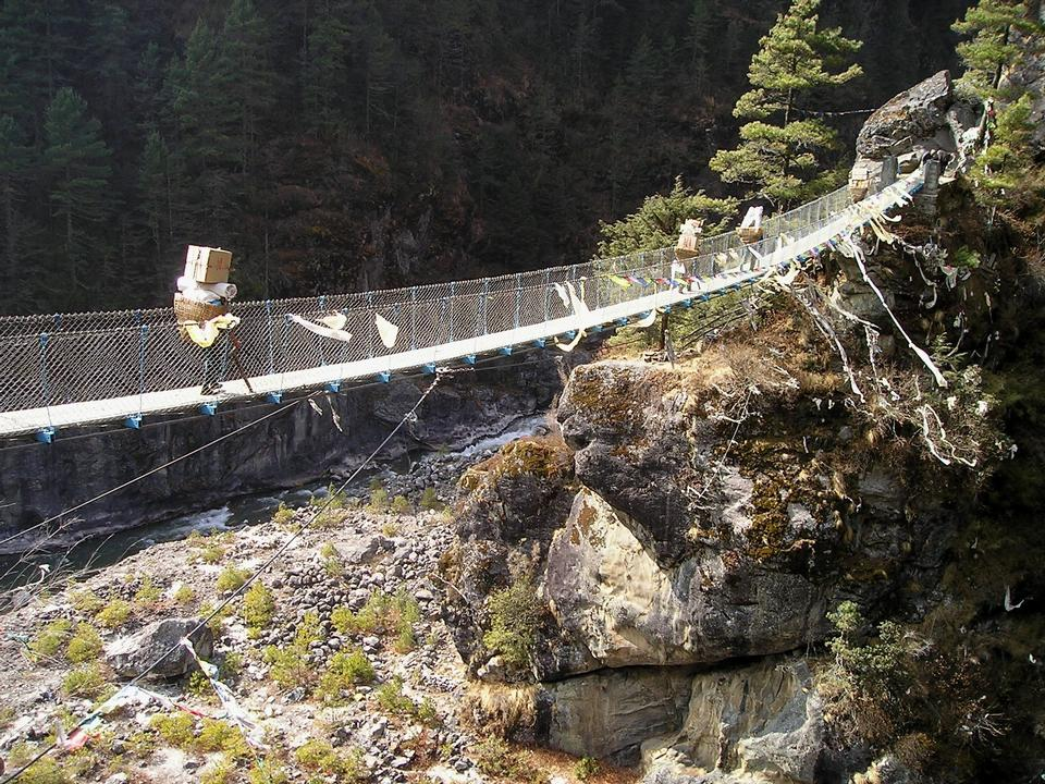 Himalayas Everest Trek Suspension Bridge