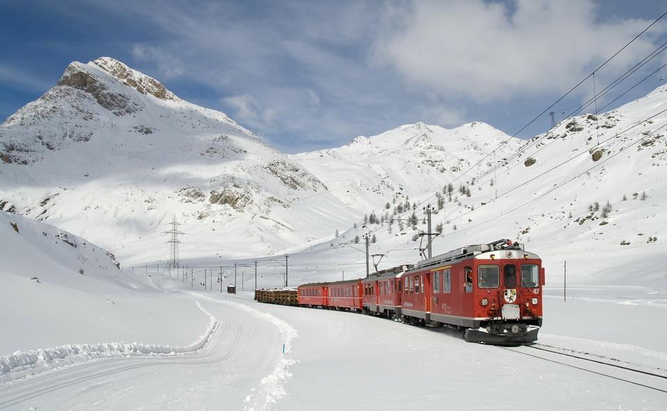 Bahn Berninabahn Winter-