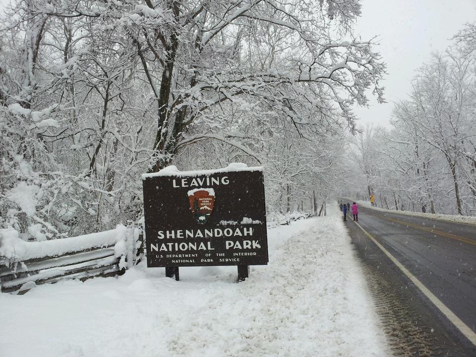 Shenandoah National Park Sign Board