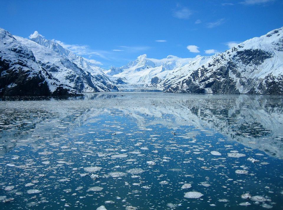 La cara del glaciar Lamplugh