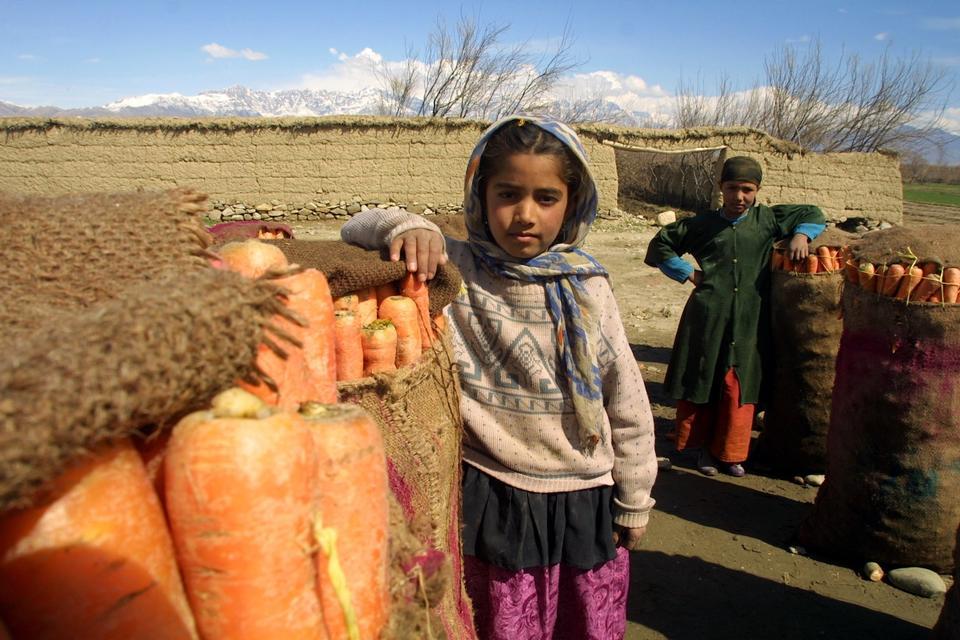 阿富汗朋友摆个姿势照相