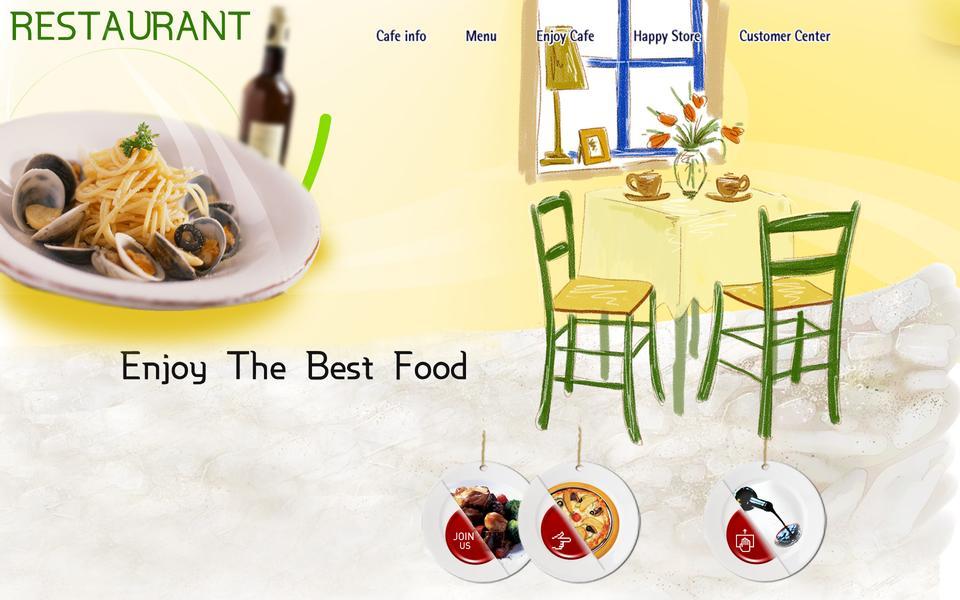Restaurant style cafe elements