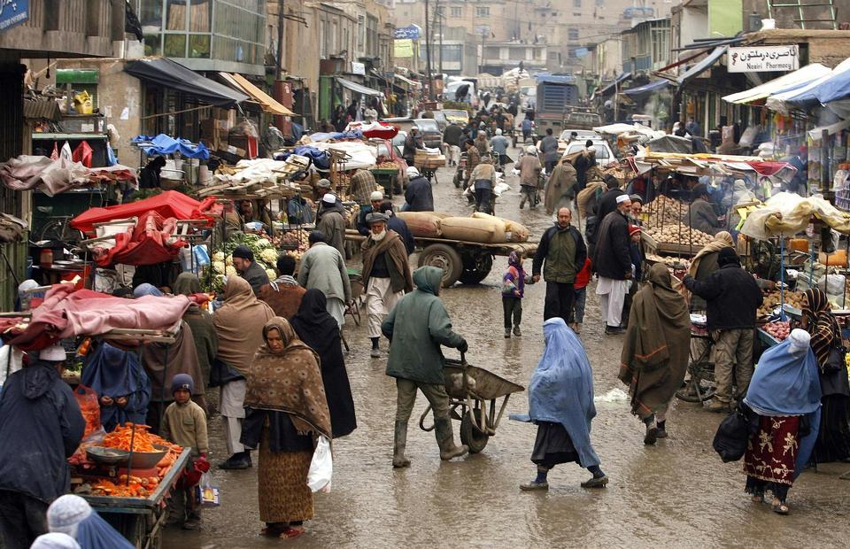 los mercados mayores en Afganistán