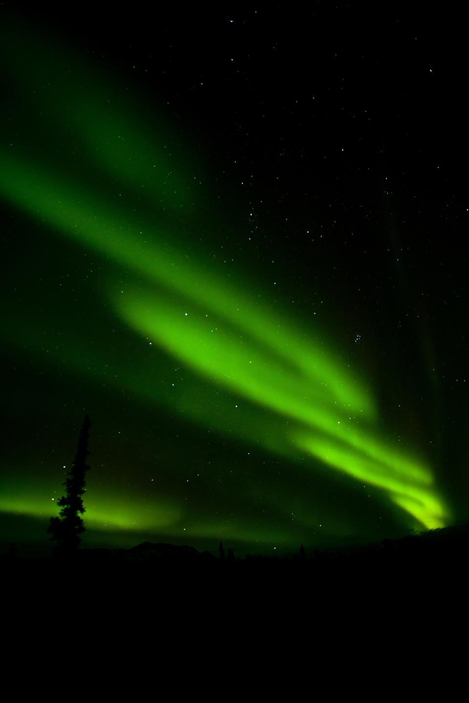 A large aurora display