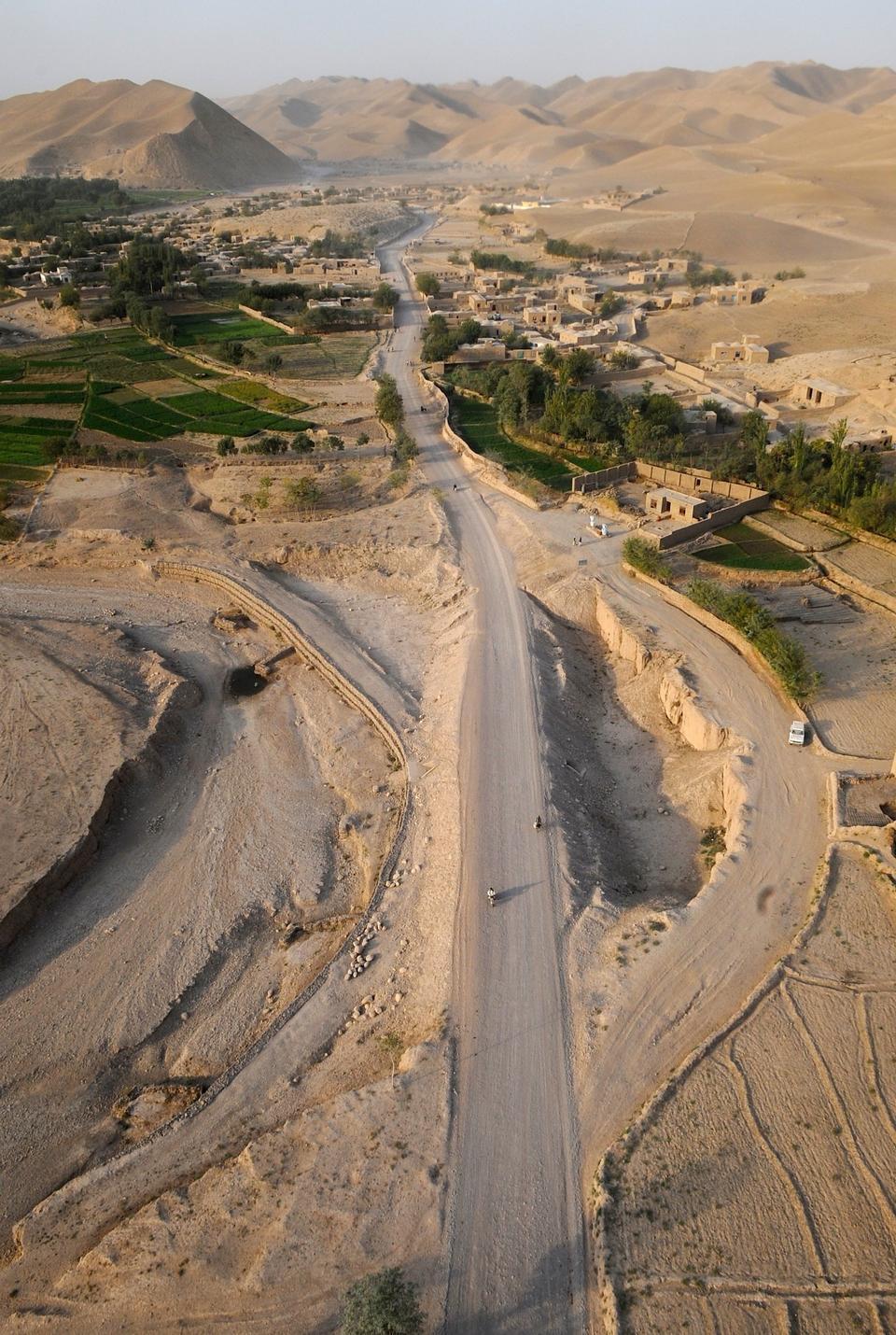 칸다하르 지방, 아프가니스탄에서 전형적인 작은 마을 클러스터