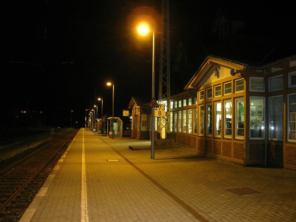 火車停在火車站