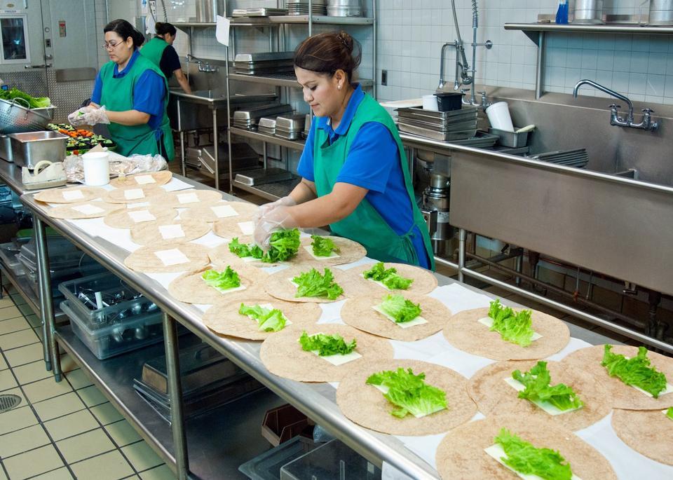 Chef in restaurant kitchen
