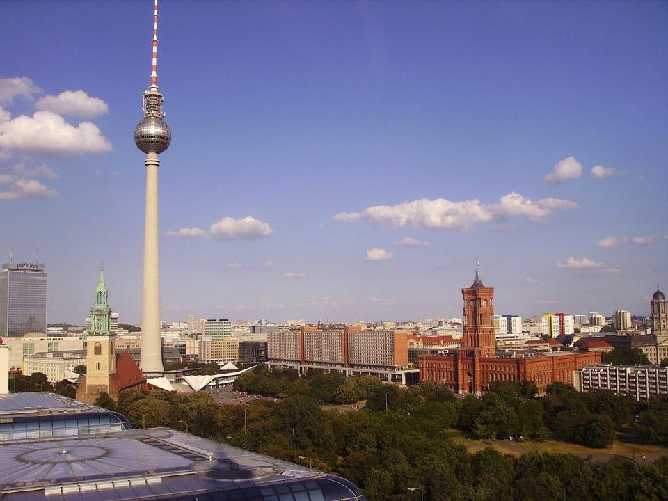 Vue panoramique sur Berlin au matin