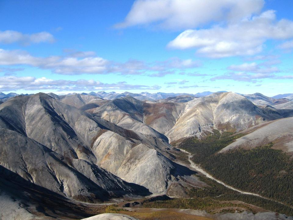 The peaks of the Baird Mountains