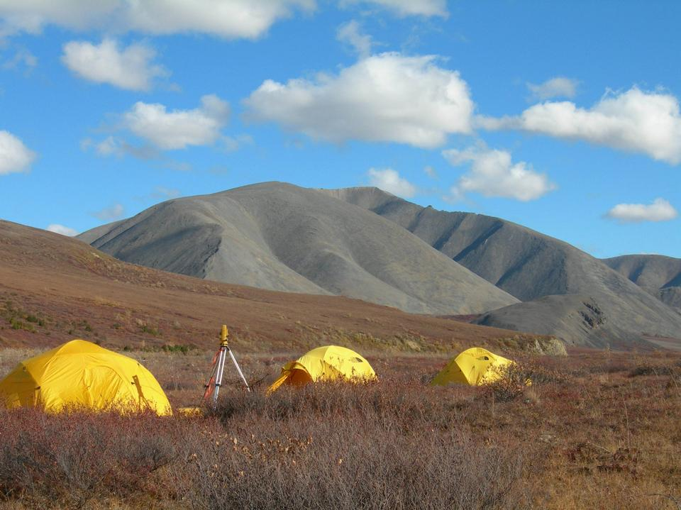 camp in beautiful fall Kobuk Valley National Park