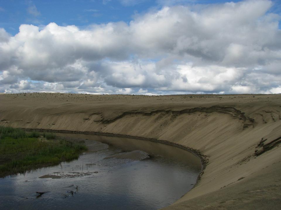 wind-blown dunes in Kobuk Valley National Park