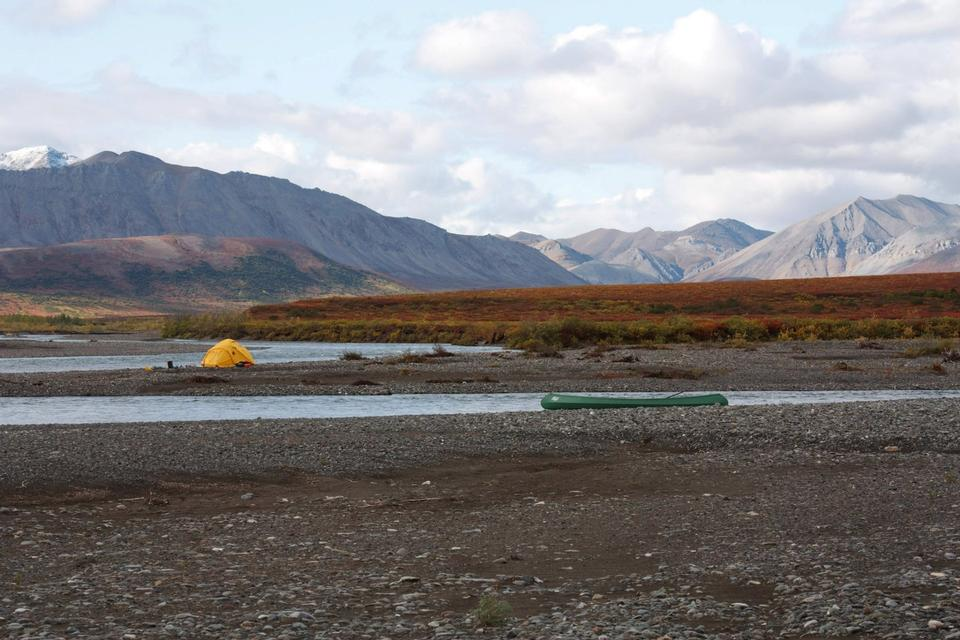 Camping on the Kugururok Alaska