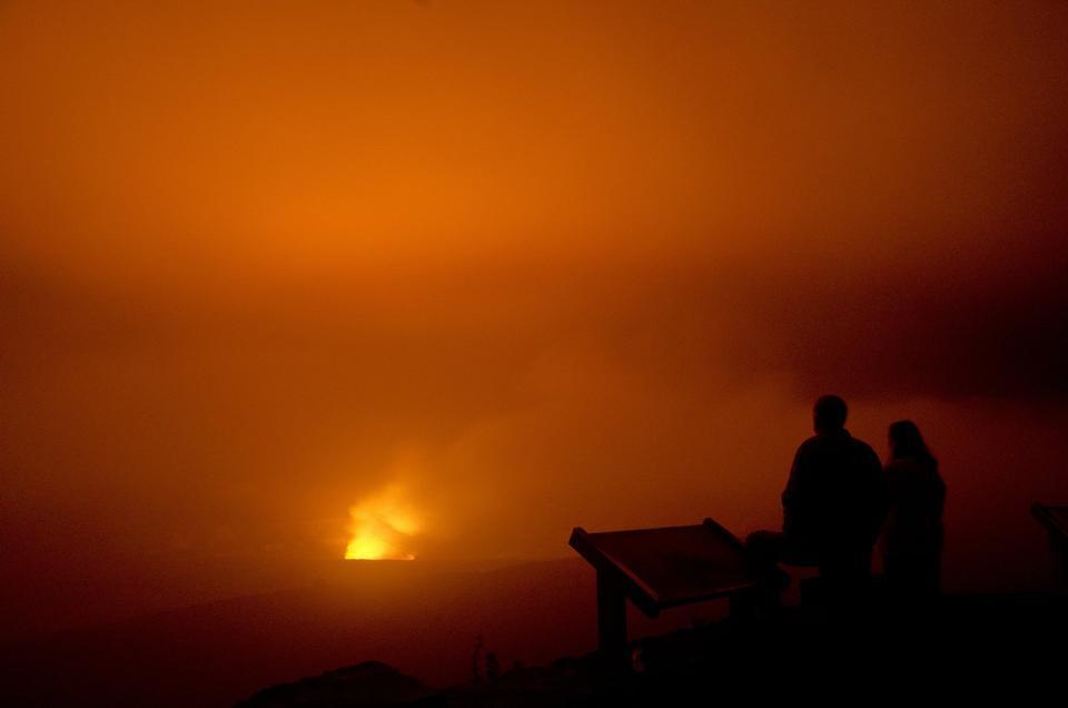 Halema UMAU夏威夷火山国家公园