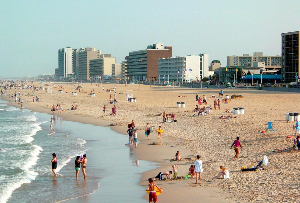 The Virginia Beach oceanfront