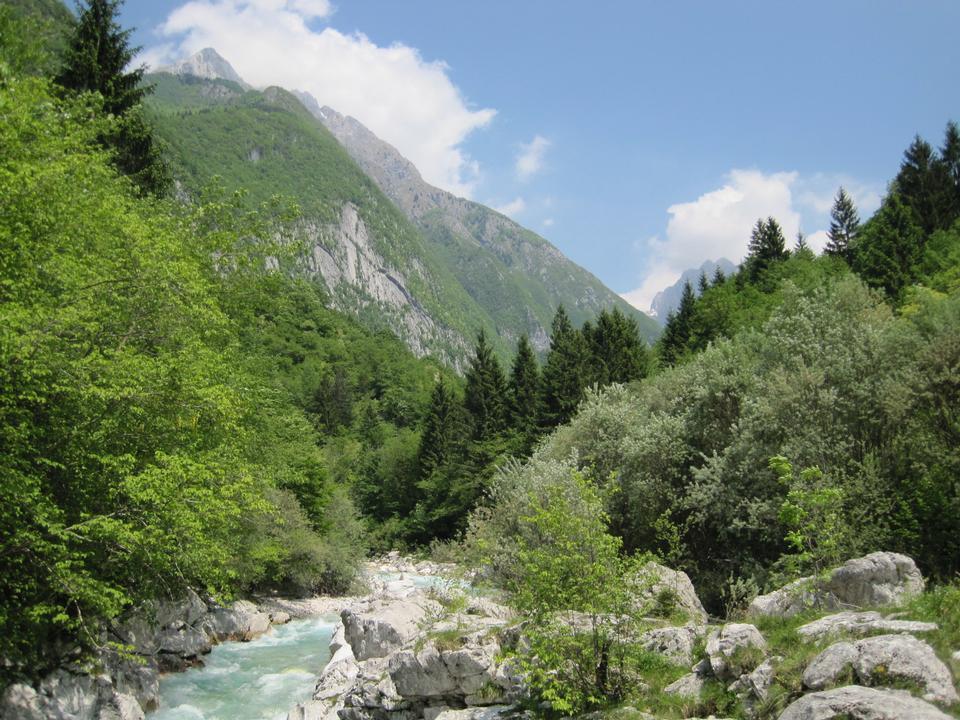 El río Soca, Eslovenia