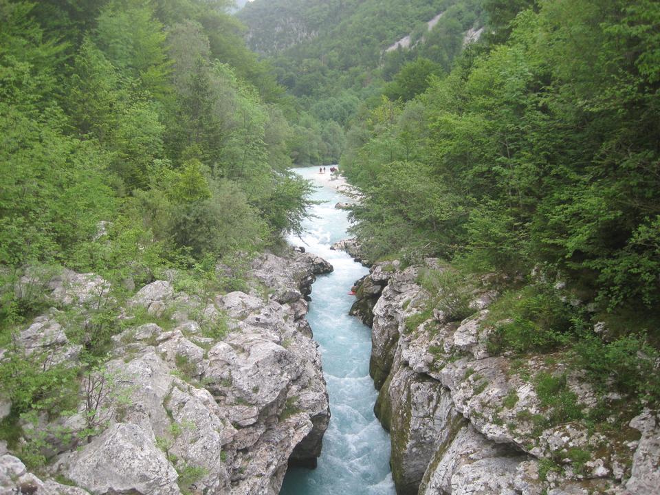 エメラルドソカ川、スロベニア、ヨーロッパ
