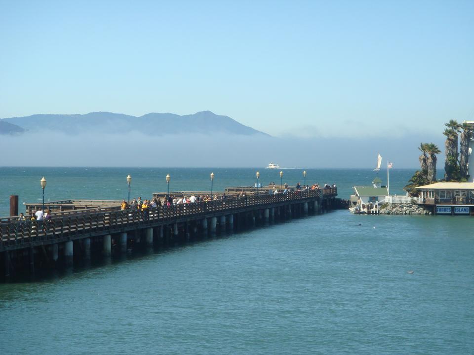 查看舊金山的距離碼頭39,舊金山,加利福尼亞州