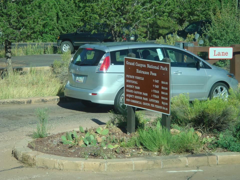 在东部公园门口大峡谷标志