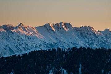 Download grátis imagem de alta resolução - Hochgall montanha no sul do Tirol, Itália, ao nascer do sol em um inverno