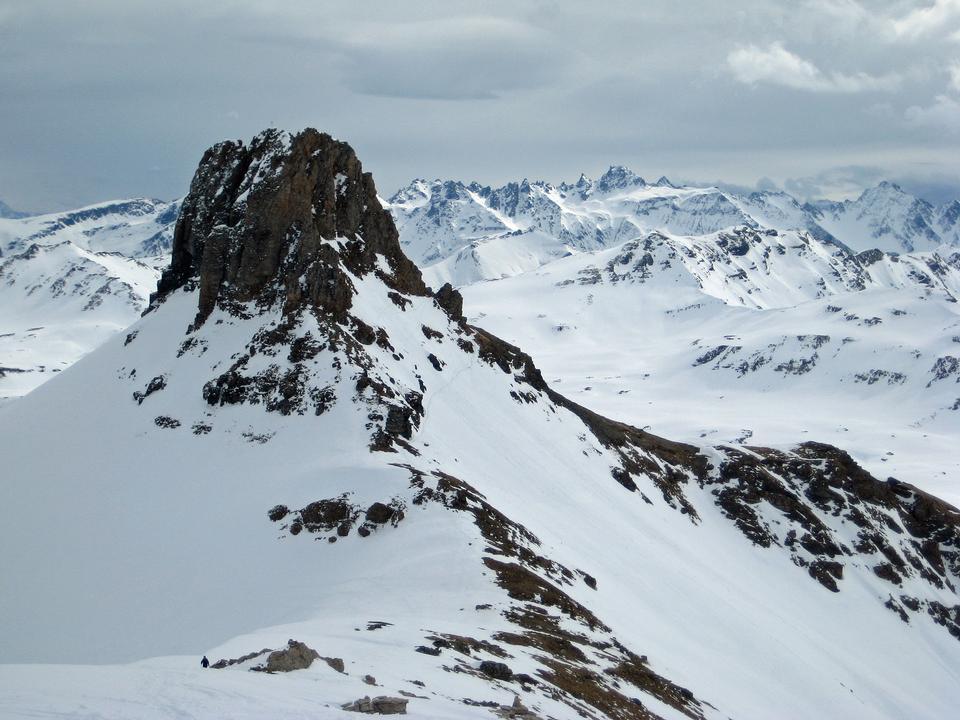 Mountain peak and surrounding country Spitzmeilen