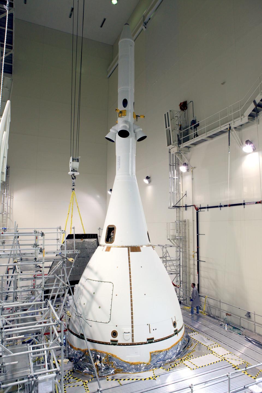 獵戶座準備移動到發射台