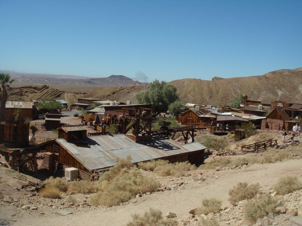 放棄された金の加工工場、ボディー、ゴーストタウン、カリフォルニア州