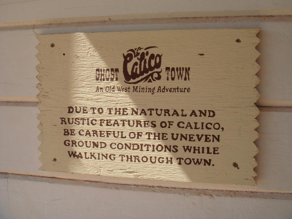 Ghost Town Information Sign