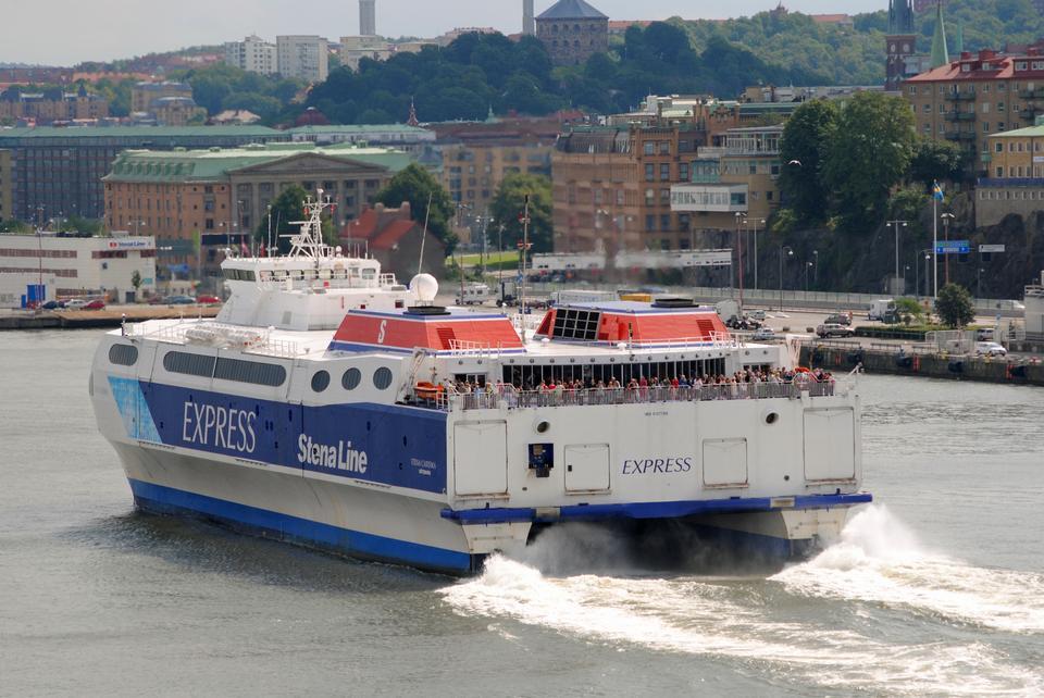 斯特诺线船从鹿特丹港。