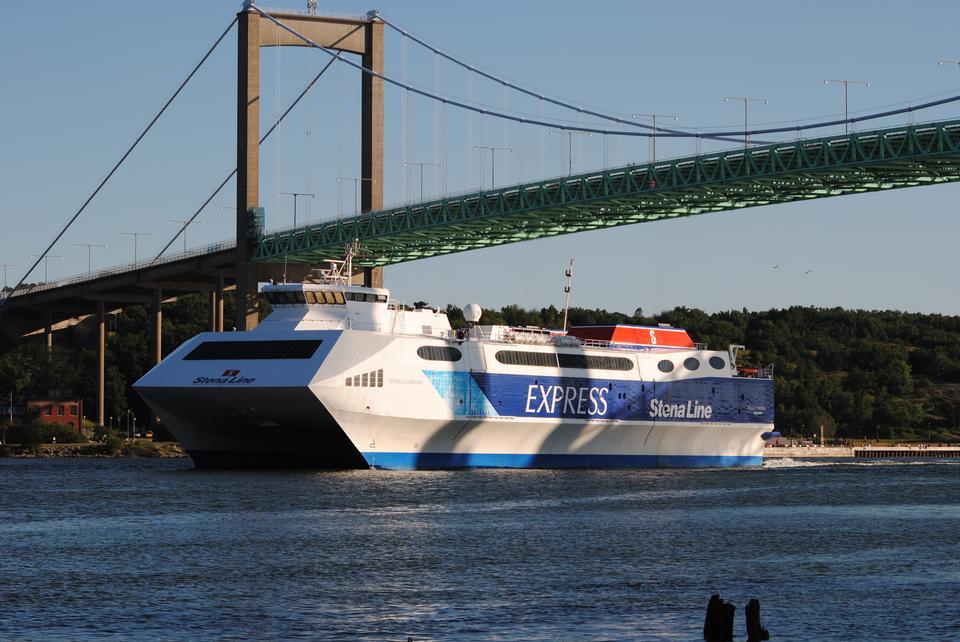 Stena Line navire du port de Rotterdam.