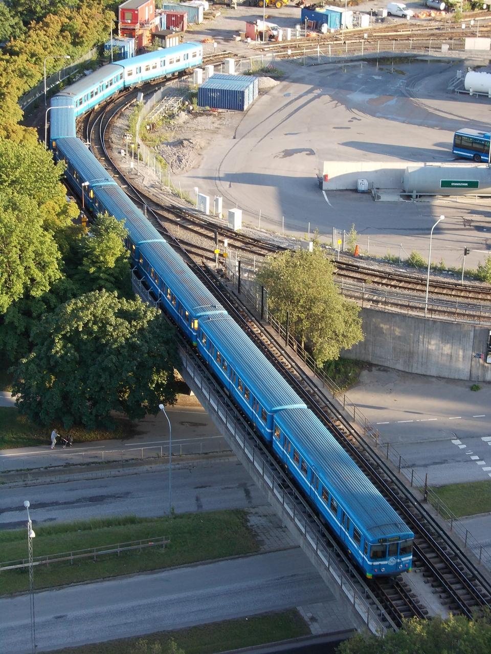 Stockholm Blue Metro