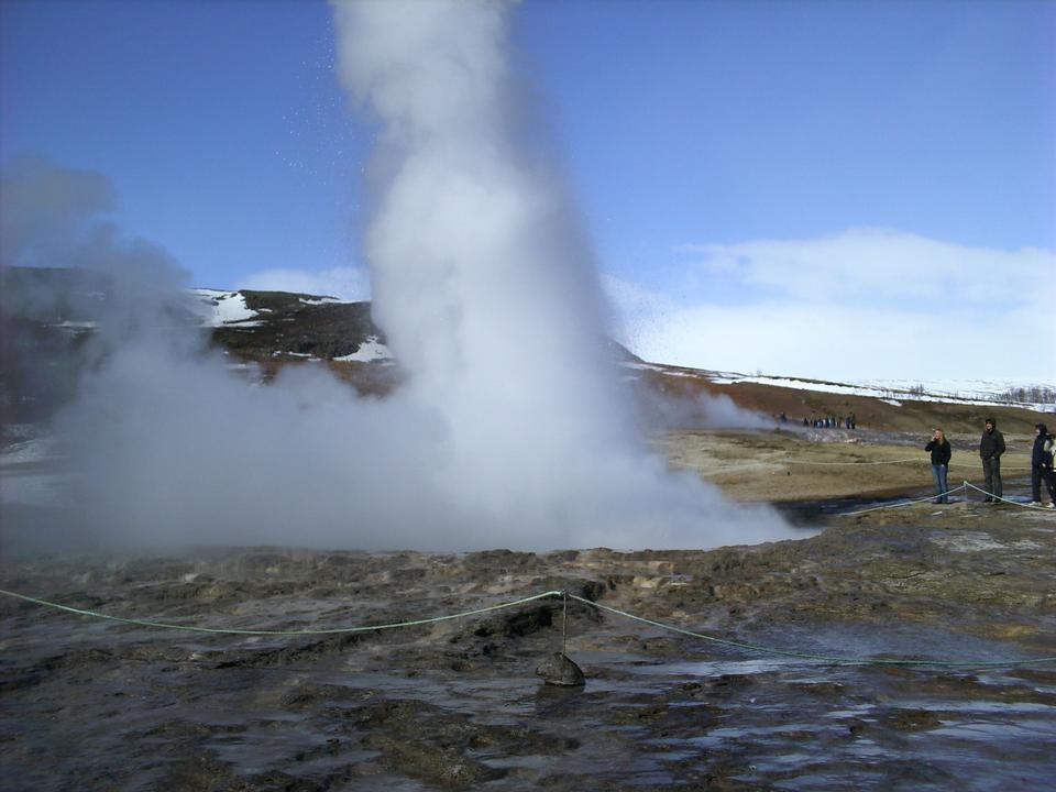 アイスランドストロックル間欠泉の噴火