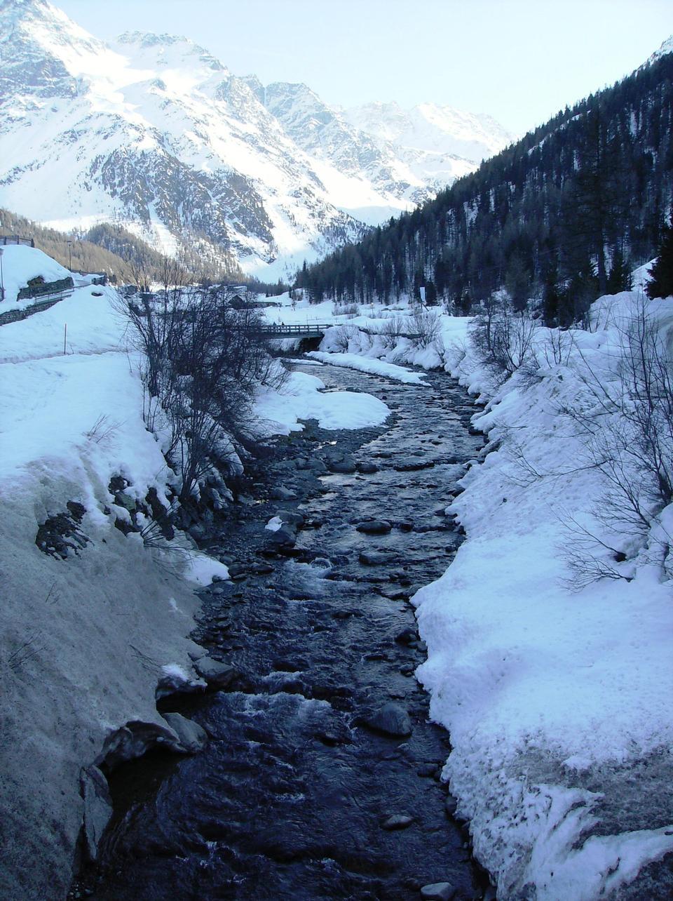小河邊Sulden谷 - 南蒂羅爾,意大利