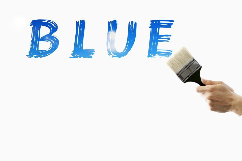 Hand paint the blue. Conceptual design.