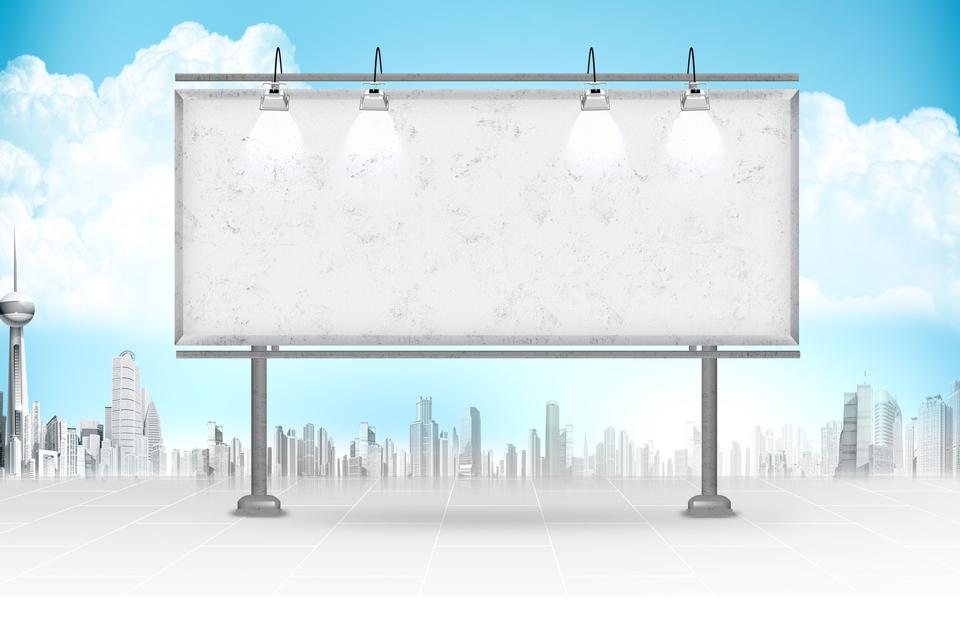 large billboard and sky in background. Business concept