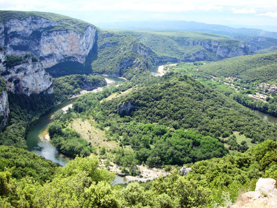 アルデーシュ峡谷、ローヌアルプス、フランス