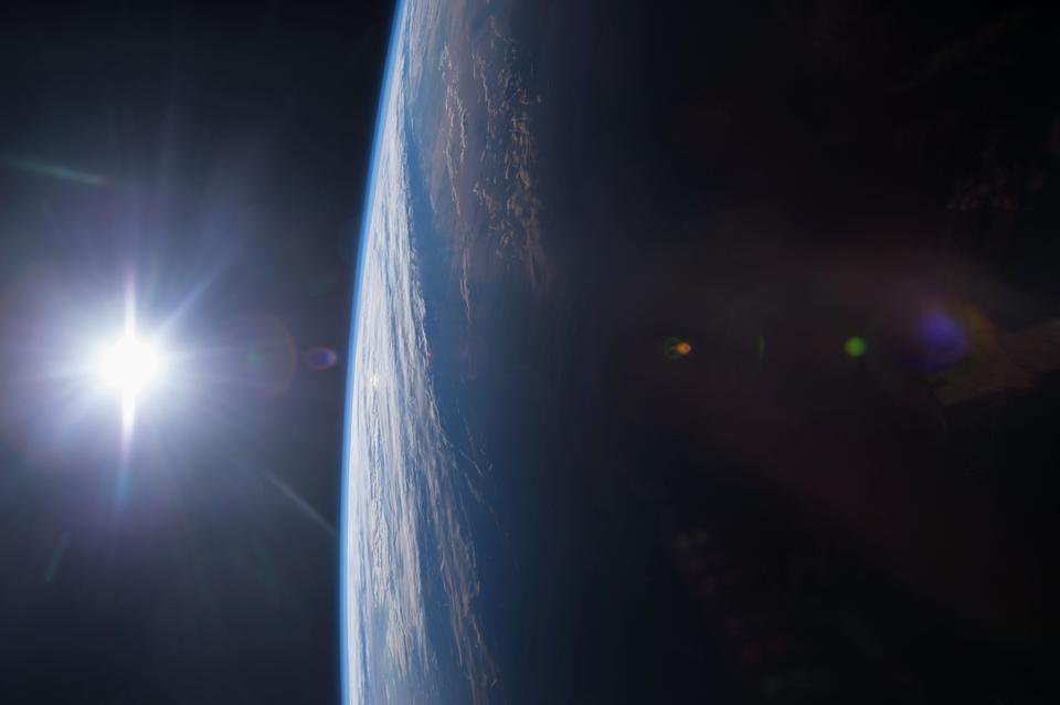 Puesta de sol sobre el Golfo de México