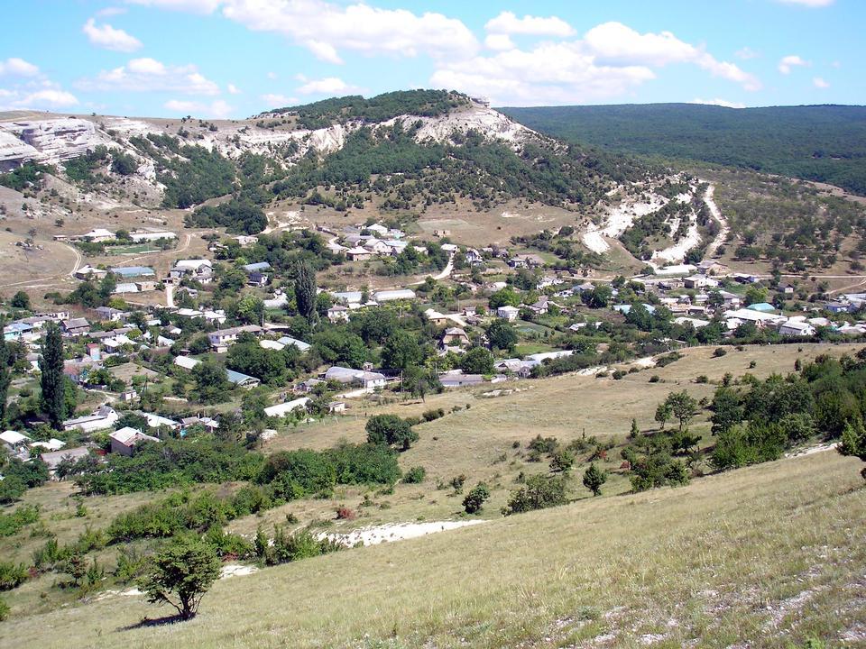 Collines vert paysage. Montagne Ai-Petri, la Crimée, la Russie