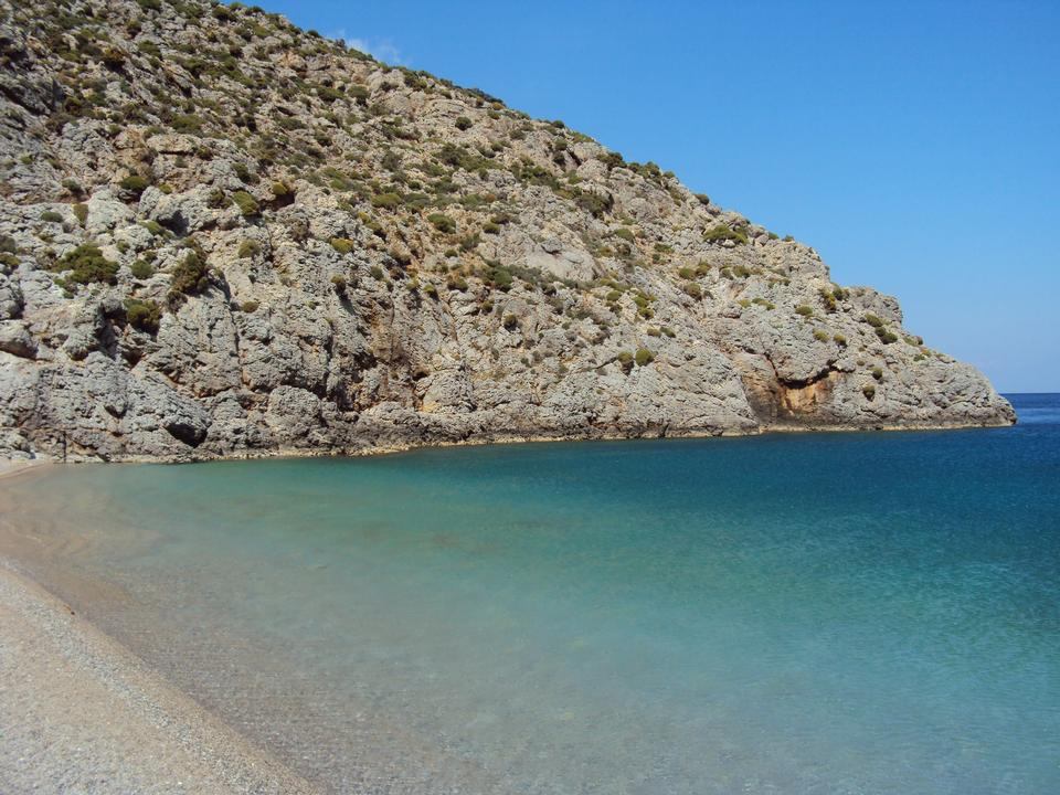 Playa Sykati, la isla Kalymnos en Grecia